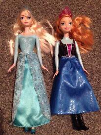 Elsa and Ana Frozen Dolls