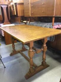 Vintage antique style Solid oak refectory dining table