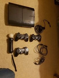 PS3 Console, Controllers, Camera and 32 Games