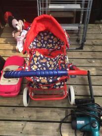 Children's pram with doll