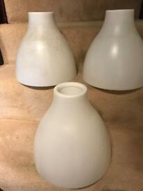 3 Large White Plastic Ikea Lampshades. Lamp Holders Missing! Free!