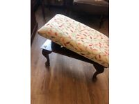 Footstool with adjustable height . Size - L 51cm D 31cm H 28cm