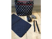 Cath Kidston changing nappy bag and accessories. Cost £75.