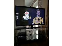 50 inch Samsung TV and stand