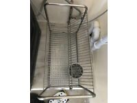 Dish drainer rack & utensil holder
