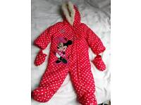 Minnie Mouse Snow Suit size 9-12 months