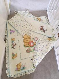 Cot bumper and duvet / quilt - cot bedding