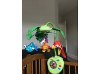 Fisher Price Peek-A-Boo Rainforest Leaves Mobile Musical