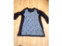 Next leopard tunic / dress - size 22 -excellent condition-100% soft cotton fabric