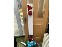 4FT TRAILER LIGHT BOARD WITH 5M 5 METRE CABLE CARAVAN CAR TOURING TRAVEL TOWING