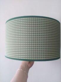 Lamp shade - green vichy colour