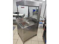 Catering Commercial Electric chip dump. French Fries Bagging Station. Used.