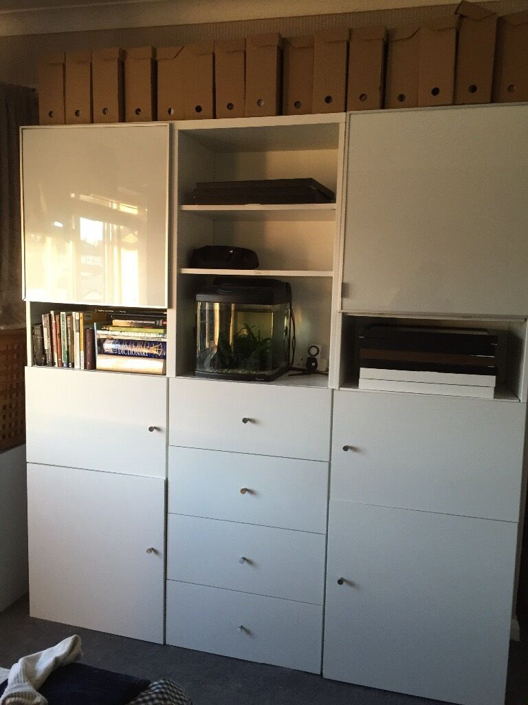 Ikea besta cabinet and living room or study storage unit for Living room storage units