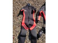 Ladies small semi dry wetsuit