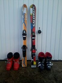Childrens Skis and Boots
