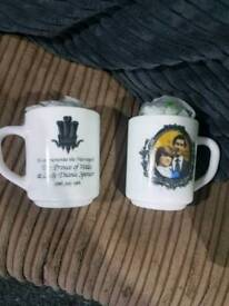 Prince charles and diana mugs