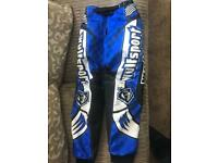 "KIDS WULFSPORT MOTO X TROUSERS SIZE 26"" NEARLY NEW CONDITION"