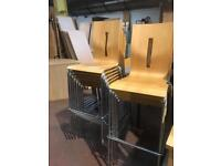 Stackable Beech High Chairs (8 x in Stock)