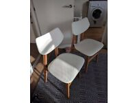 2 dining chairs, Jacob from Made, alabaster and ash