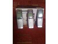 Panasonic KX-TG6424 set of 3 phones .1 handset is missing