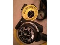 Mares scuba diving regulator set with gauge