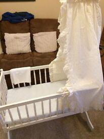 Beautiful Swinging Crib with mattress