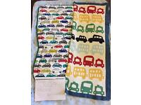Mamas and papas cars liner and blanket