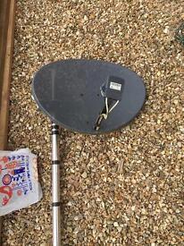 Old sky dish & pole - FREE