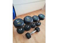 1, 3, 5, and 8 kg rubber dumbell sets, excellent quality (Men's Health brand)