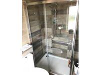 Brand new in box 1200 x 800 Mode Harrison sliding door shower enclosure