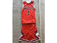 Boys 7-8y Chicago Bulls basketball replica kit