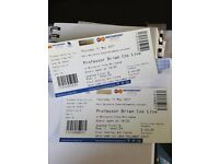 Professor Brian Cox Live! Tickets Nottingham 11th May 2017! third row to front - Two tickets