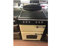 60CM CREAM LEISURE ELECTRIC COOKER DOUBLE OVEN