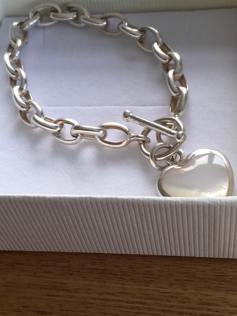 26c24d65860 Ladies genuine chunky sterling silver bracelet hallmarked 925   in ...
