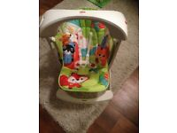 Fisher-Price Rainforest Friends Take Along Swing & Seat - Like New