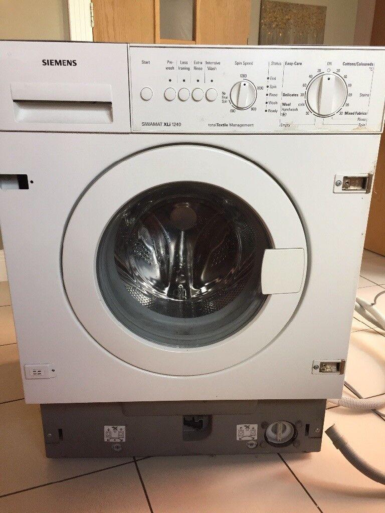 Siemens integrated washing machine - working