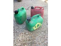 Petrol cans 5litre x 3