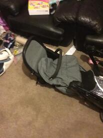 Baby push chair and mumas & papas cot