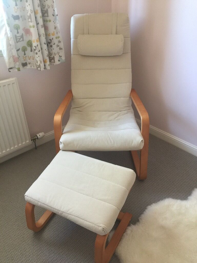 Ikea Boliden Chair And Footstool