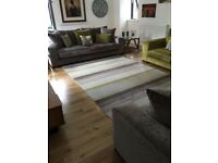 New Large John Lewis catkin multi stripe rug in natural bold colours RRP£495 300cmx200cm