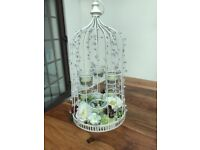 Jewelled Birdcages with glass candle holders- beautiful centrepieces