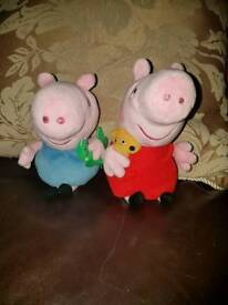 George & Peppa pig soft toys