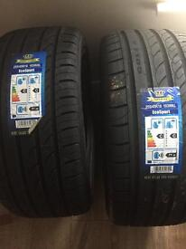 2 x brand new tyres 255/45R18
