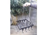wrought iron hanging utensil rack - would grace any kitchen