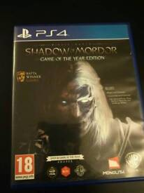 SHADOW OF MORDOR - PS4 - GAME OF THE YEAR EDITION - ALL DLCS