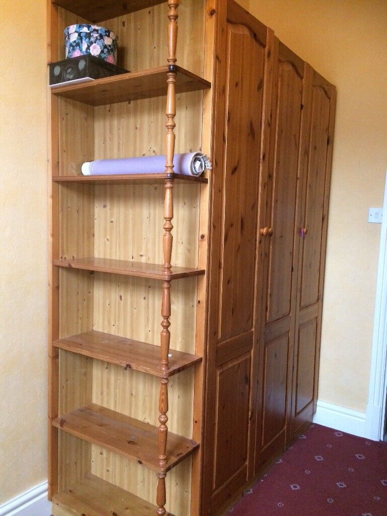 Triple wardrobe and 5 draw chest of draws and detachable shelving | in  Preston, Lancashire | Gumtree