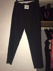 Black MissGuided trousers size 14