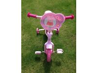 Bicycle Peppa Pig theme with stabilisers age 2 plus