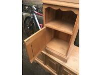 Solid pine bedside cabinet table