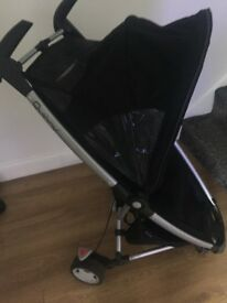 Quinny Zapp Rocking Black Standard Single Seat Stroller